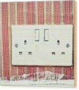 Power Socket Wood Print