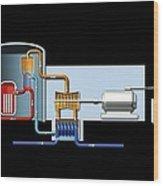 Power Station, Artwork Wood Print