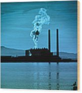 Power Station Silhouette Wood Print by Craig B