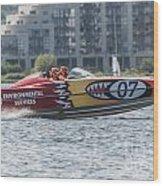 Powerboat 3 Wood Print