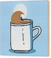 Powered By Coffee Wood Print