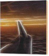 Powered Flight Wood Print