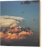 Powerful Cloud Wood Print