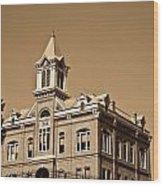 Powhatan Court House Sepia 5 Wood Print