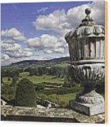 Powis Castle Garden Urn Wood Print