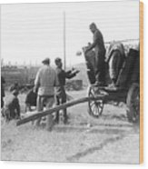 Pows Unload Cabbages For Lunch Wood Print