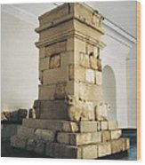 Pozo Moro Monument. Iberian Art.  Iron Wood Print