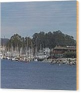 pr 204- Santa Cruz Harbor pano Wood Print