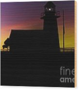 pr 208 - Sillouette of a Lighthouse Wood Print