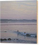 pr 240-Evening Sunset Wood Print