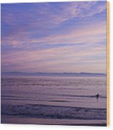 pr 241-Lavender Sunset Wood Print