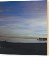 pr 243- Sunset Over Capitola Pier Wood Print