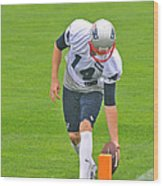 Practice At The Goal Line Wood Print