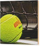 Practice - Tennis Ball By William Patrick And Sharon Cummings Wood Print
