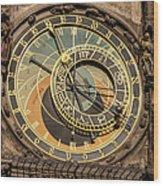 Prague Astronomical Clock Wood Print