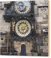 Prague Astronomical Clock Wood Print