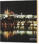 Prague Castle Wood Print