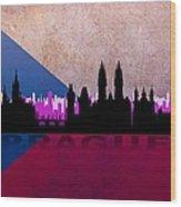 Prague City Wood Print