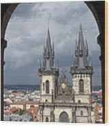 Prague From Town Hall Tower Wood Print