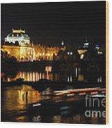 Prague National Theater Wood Print