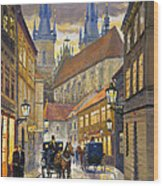Prague Old Street Stupartska Wood Print