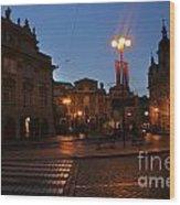Prague Old Town At Night Wood Print