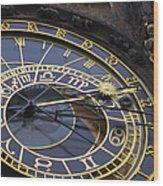 Prague Orloj Wood Print