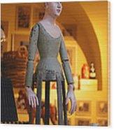 Prague Puppet Wood Print