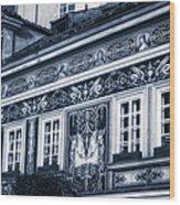 Prague Sgraffito Wood Print