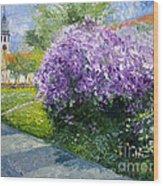 Prague Spring Loreta Lilacs Wood Print