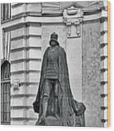 Prague - The Iron Man From A Long Time Ago And A Country Far Far Away Wood Print