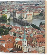 Prague - View From Castle Tower - 03 Wood Print