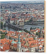 Prague - View From Castle Tower - 05 Wood Print