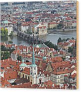 Prague - View From Castle Tower - 10 Wood Print