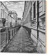 Praha Sidewalk  Wood Print