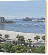 Botafogo Beach Wood Print