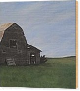 Prairie Barn Wood Print by Jesslyn Fraser