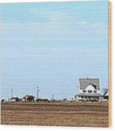 Prairie Farm Wood Print