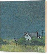 Prairie Homestead Wood Print