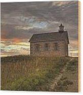 Prairie Schoolhouse Wood Print
