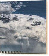 Prairie Storm Clouds Wood Print