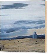 Prairie Storm Is Brewing Wood Print