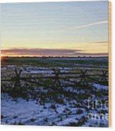 Prairie Sunrise Wood Print