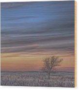 Prairie Sunset North Dakota 2 Wood Print