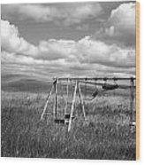 Prairie Swing Set Wood Print