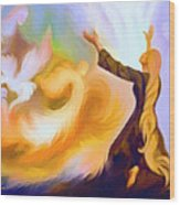 Praise Him Wood Print by Susanna  Katherine