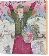 Praise The Lord Christmas Wood Print