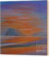 Pranburi Sunset 2 Wood Print