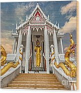 Pranburi Temple Wood Print