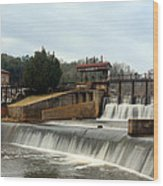 Prattville Dam Prattville Alabama Wood Print